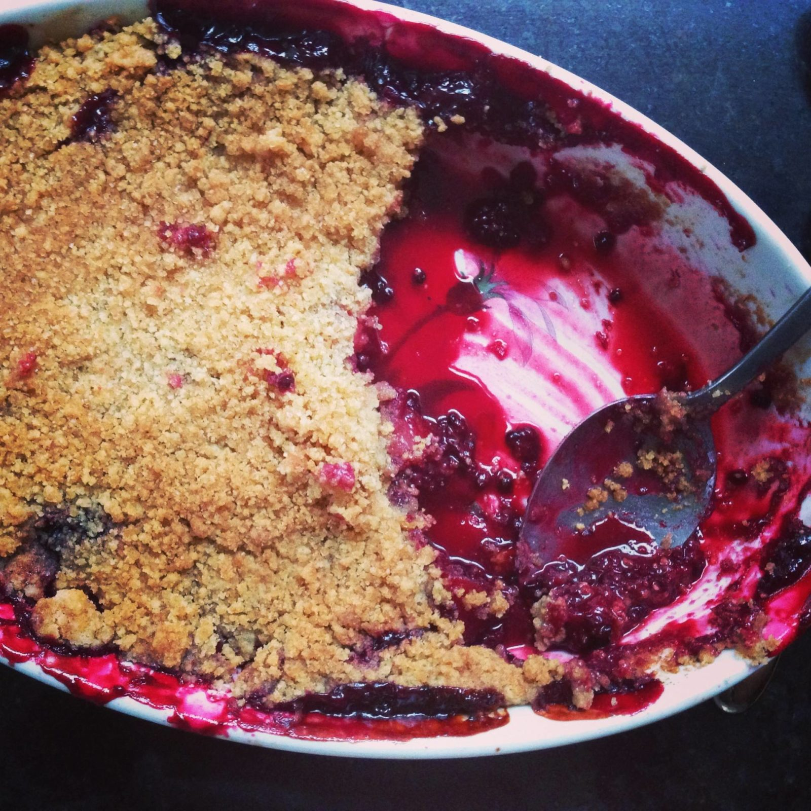 crumble, winter, food