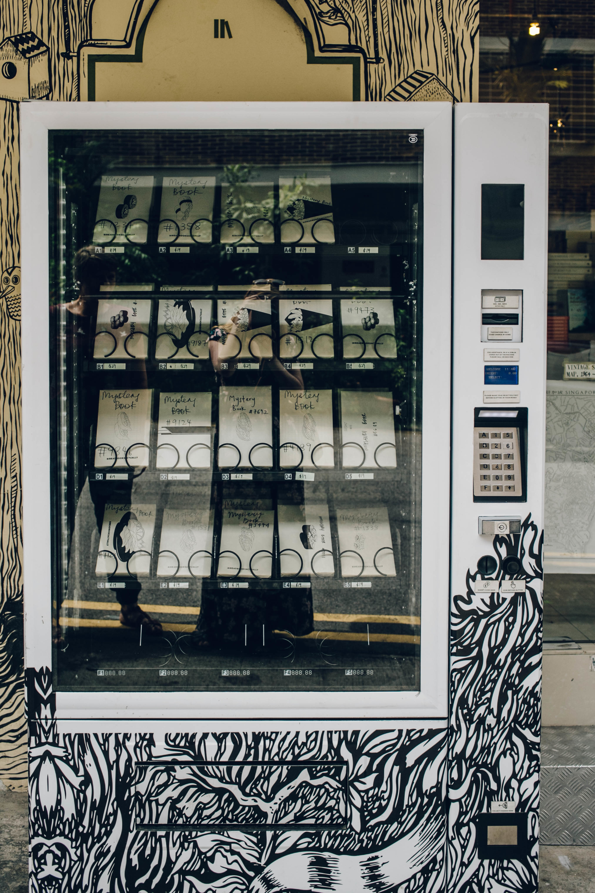 Book vending machine at Books Actually in Singapore